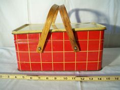 Tin Picnic Basket.