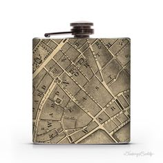 City of New York Map 1767  6oz Whiskey Hip Flask by DrinkingBuddy, $19.99