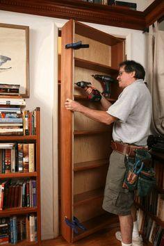 Bookcase Door, Bookcases, Kid Bookshelves, Secret Door Bookshelf, Bookshelf Closet, Mini Loft, Hidden Spaces, Hidden Rooms In Houses, Secret Rooms