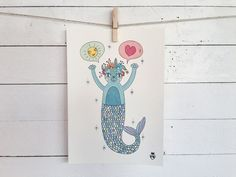 Sea Cat- A4 Size poster - Digital Print- 10 euro Shipping cost exluded - for info: info@enricamannari.com