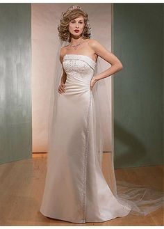 IVORY WHITE LACE BRIDESMAID PARTY BALL GOWN FORMAL PROM SATIN SHEATH STRAPLESS WEDDING DRESS