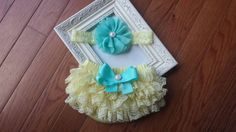 Check out this item in my Etsy shop https://www.etsy.com/listing/231763511/sale-yellow-and-aqua-lace-headband-and