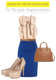 inspired-from-Michelle-Obama's-looks-for-the-pear-shaped-women #ootd #workwear #monday