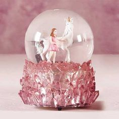 Unicorn and Fairy Snow Globe