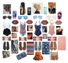 Beach Day Again!!! by emilymadison01 on Polyvore featuring polyvore fashion style prAna Acacia Swimwear Hollister Co. American Eagle Outfitters Havaianas Chloé Marvel Kate Spade Nikki Strange Boohoo Victoria Beckham Casetify Yves Saint Laurent Lime Crime JR by John Robshaw Thomaspaul Missoni Home clothing