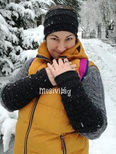 Elkészítése részletes leírással a blogon (free hungarian pattern) Wrist Warmers, Knitted Headband, Winter Hats, Blog, Free, Fashion, Amigurumi, Moda, Wristlets