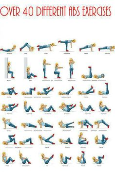 40 different abs excises