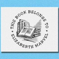 This Book Belong to Stamp Personalized Book Stamp Personal