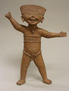 Standing Smiling Figure  Date:     7th–9th century Geography:     Mexico, Mesoamerica, Veracruz Culture:     Remojadas