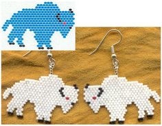 Brick weave earrings (many schemes) | biser.info - all about beads and beaded works