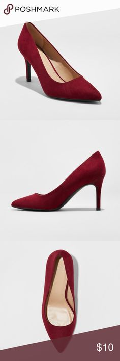 Burgundy Pointed Toe Heels - NWT Elevate any casual look or complement your go-to dressy styles with these 3.5 inch pointed-toe heels™. These chic heels feature an easy slip-on style and versatile pointed toe, making them the perfect addition to a variety of outfits for any occasion. The stiletto heel keeps things elegant while the height makes for comfortable, all-day wear. Pair them with skinny jeans and a blouse or even a little black dress — you'll look as stylish as you feel.  Brand…