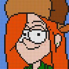 Wendy From Gravity Falls Perler Bead Pattern / Bead Sprite