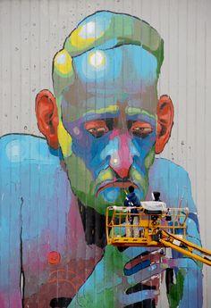 Graffitti by Aryz ...