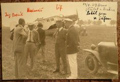 BAŤA - Přílet z BERLÍNA 14.8.1929 Brno !!! orig.