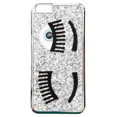 CHIARA FERRAGNI 'FLIRTING'  I PHONE 6 PLUS case (49 AUD) ❤ liked on Polyvore featuring accessories, tech accessories, silver and chiara ferragni