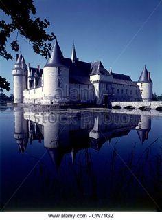 Château of Le Plessis-Bourré. - Stock Image