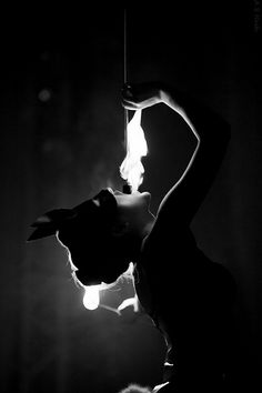 Fire eater modern circus black and white photography