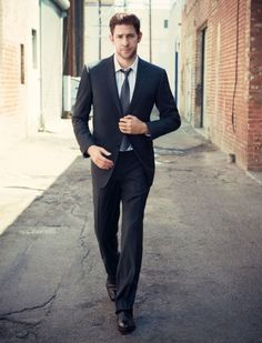 Michael Muller photographed John Krasinski for a fashion story recently that shows the comic actor—he's one of the stars of NBC's The Office—looking seriously handsome… . John Krasinski, Pretty People, Beautiful People, Perfect People, Jim Halpert, Raining Men, Look At You, Attractive Men, Man Candy