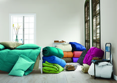 Try down alternative comforters from @thecompanystore for sensitive skin.