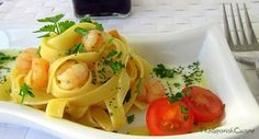 Pasta with shrimps, garlic and oil recipe