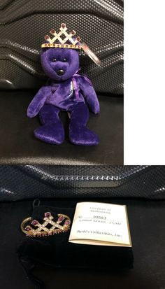Rare 1 St Edition Ty Princess Diana Beanie Baby Teddy And
