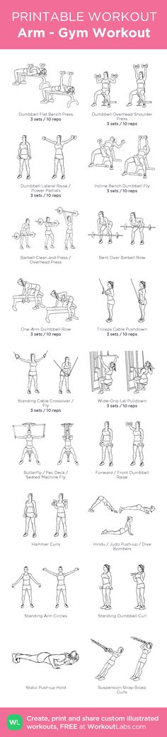 Arm - Gym Workout: my visual workout created at WorkoutLabs.com • Click through to customize and download as a FREE PDF! #customworkout