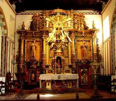 Mission San Fernando interior - altar detail
