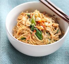 Peanut and coconut noodles