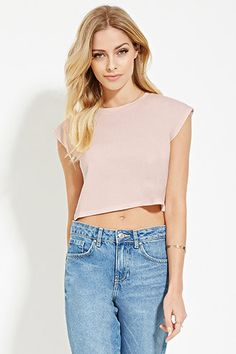 Buy it now. LOVE21 Women's  Light Pink Contemporary Boxy Crop Top. details Forever 21 Contemporary - A knit crop top with a boxy shape, cap sleeves, and a crew neckline. Content + Care - 100% cotton- Hand wash cold- Made in Nicaragua Size + Fit - Model is 5'7.5%22 and wearing a Small- Full length: 16.5%22- Chest: 33%22- Waist: 33%22- Sleeve length: 2%22 , topcorto, croptops, croptops, croptop, topcrop, topscrops, cropped, bailarina, topbailarina, corto, camisolacorta, topcortoestilobandeau…