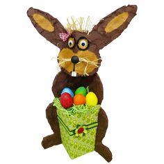 Osterhase als Ostergeschenk: Der Osterhase ist eine nette Bastelidee für Kindergeburtstage und Kindergärten. Hier erhälst Du die komplette Bastelanleitung: http://www.trendmarkt24.de/bastelideen.osterhasen-basteln-anleitung.html#p