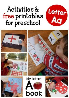 Check out this giant set of letter A activities for preschool! Printable books, activity sheets, book lists, craft ideas, and more! Use for Eden Toddler Learning Activities, Preschool Letters, Preschool Learning Activities, Preschool Curriculum, Preschool Lessons, Alphabet Activities, Toddler Preschool, Kids Learning, Homeschooling