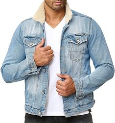 Jacke  Bekleidung, Herren, Jacken, Mäntel & Westen, Jacken Denim Jeans Men, Out Of Style, Mantel, Parka, Going Out, Skinny Jeans, Stylish, Casual, Cotton