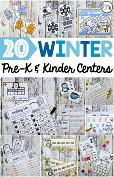 Awesome math and literacy centers for winter! My kids are going to love them. These would be great for kindergarten or first grade! #firstgrademath #kindergartenmath #firstgradeteacher #kindergartenteacher