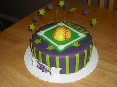 Sprinklebelle: Softball Birthday Cake