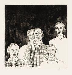 Tony Bevan 'Group with Dark Background', 1993 © Tony Bevan
