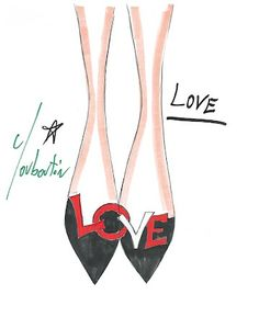 Valentine's Shoe love from Laboutin #valentines #laboutin #shoes