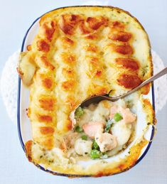 Fish pie is always a winner, but the chefs of Fortnum & Mason have a few extra touches which elevate this recipe still further.'Now this is a serious fish pie, with smoked haddock, salmon and cod at … Uk Recipes, Fish Recipes, Seafood Recipes, Halibut Recipes, British Recipes, Family Recipes, Wartime Recipes, Depression Era Recipes, Recipes