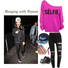 """Hanging with Teyana(bae) :D"" by thimslick on Polyvore"