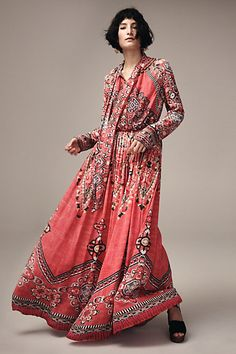 Suzani Maxi Dress #anthropologie