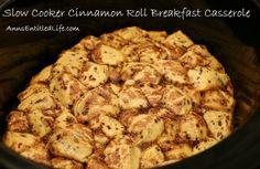 Slow Cooker Cinnamon Roll Breakfast Casserole