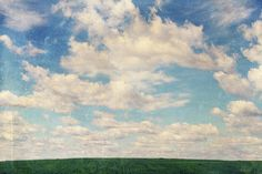 vintage sky by Iuliia Malivanchuk #IuliiaMalivanchukFineArtPhotography #ArtForHome #FineArtPrints #HomeDecor #sky #clouds #clearsky #blue #vintage #field