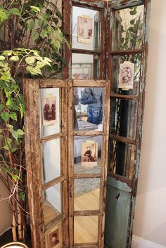 mirrored window panes