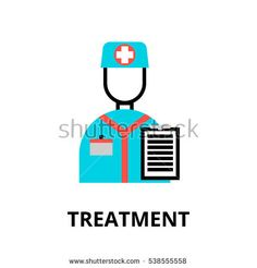 Modern flat editable line design vector illustration, concept of medical treatment icon, for graphic and web design