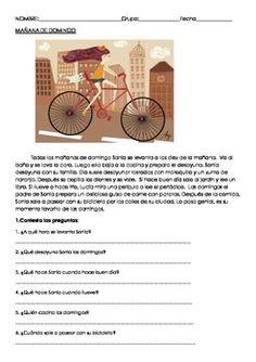 Worksheets Spanish Comprehension Worksheets pinterest the worlds catalog of ideas reading comprehension worksheet