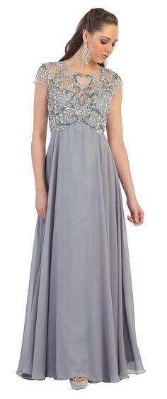 Modest Mother of the Bride Plus Size Formal Long Gown