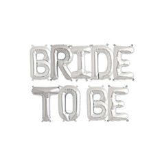 BRIDE TO BE - Silver 16 inch Foil Letter Pack - Hello Party - All you need to make your party perfect! Hen Do balloons