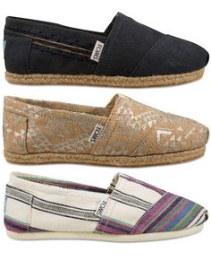 TOMS: comfy kicks that give back to those in need.