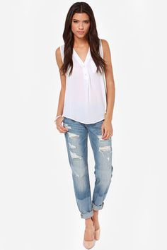 Adore You Ivory Tank Top - $29 : Fashion Tank Tops at LuLus.com