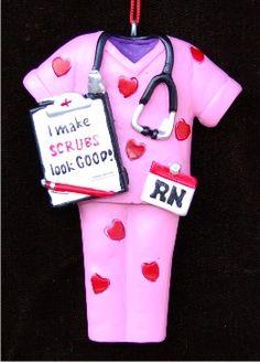 Best Dressed Nurse Personalized Christmas Ornament