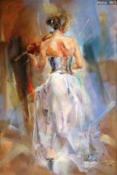 Anna Razumovskaya #violinhttp://www.oilpaintingsartmaker.com/soul-enchanted-p-301.html